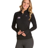 TYR USA Swimming All Elements Women's Long Sleeve 1/4 Zip Pullover at SwimOutlet.com - Free Shipping