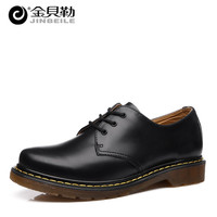 2016 Spring Autumn Fashion Genuine Leather Boots Dr 1461 Motorcycle Botas British Unisex Couple Shoes Leather Martin Boots