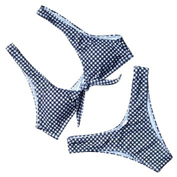 RUUHEE Women Floral Printed V Style Bottom Bow-Knot Bikini Top Bathing Suits 2 Piece Swimsuit