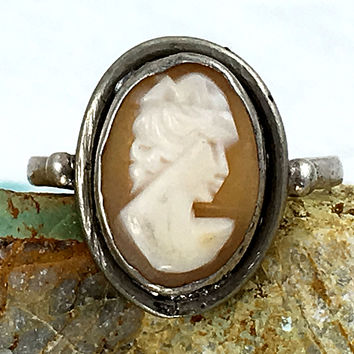 Cameo Ring Sterling Silver