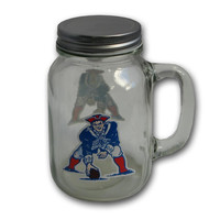 New England Patriots Throwback Mason Jar