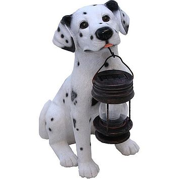 Dalmatian Dog Solar Light Lantern with Super Bright LED