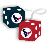 Houston Texans NFL 3 Car Fuzzy Dice