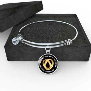 'To My Wife' Personalized Luxury Circle Necklace & Bangle