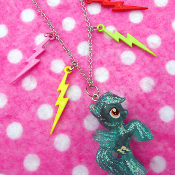 My Little Pony Rainbow Dash Lightning Necklace