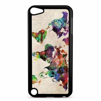 World Map Urban Watercolor iPod Touch 5 Case