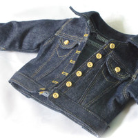 American Girl Customizable Dark Denim / Jean Jacket - 18 Inch Doll Clothes