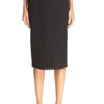 RED Valentino Macramé Lace Pencil Skirt | Nordstrom