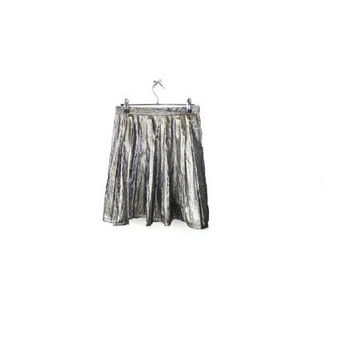 Highwaisted METALLIC Skater Skirt // SMALL // Vintage Rework // Union made in the U.S.A