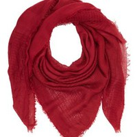 Fringed Lightweight Square Scarf by Charlotte Russe