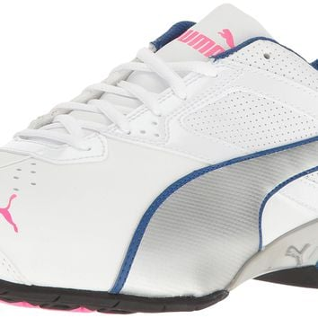PUMA Women's Tazon 6 Wide Wn's FM Cross-Trainer Shoe Puma White-puma Silver-knockout P