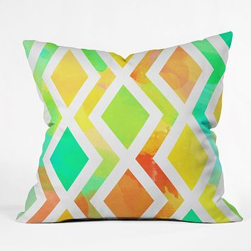 Rebecca Allen Delighted Throw Pillow