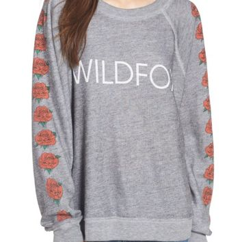 Wildfox Bouquet Thrashed Sweatshirt | Nordstrom