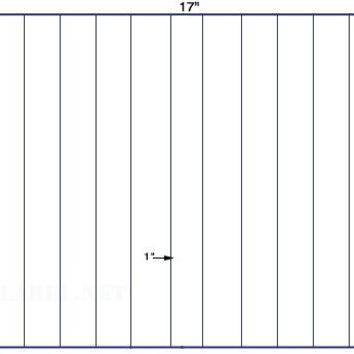 US5618-1.25'' x 11''-12 up on a 11'' x 17'' sheet - 12,000 labels.