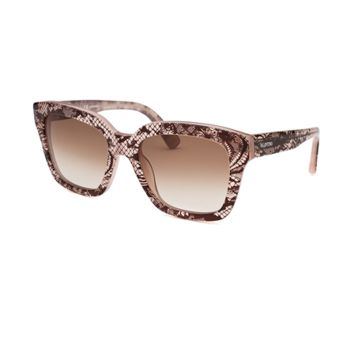 Valentino Women's Square Translucent Pink Sunglasses | Bluefly