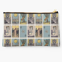 '6 Tarot Card Background' Studio Pouch by phantastique