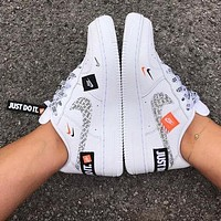 Nike Air Force 1 Just Do It Fashion Women Men Casual Running Sport Shoes Sneakers