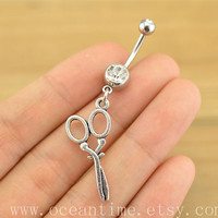 belly ring,Belly Button Rings,scissors belly button jewelry, hairstylist belly ring,navel ring,friendship jewelry,bellyring