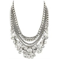 Kenneth Jay Lane Multi Strand Crystal Necklace | Kenneth Jay Lane Accessories from Bag Borrow or Steal?