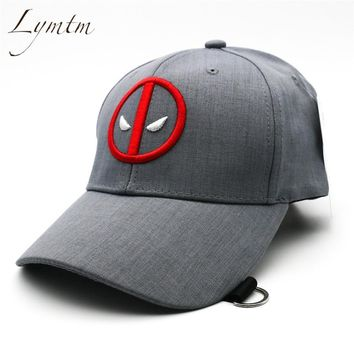 Trendy Winter Jacket [Lymtm] 2018 Summer Deadpool Embroidery Baseball Caps Funny Marvel Hat Adjustable Snapback Casquette Hockey Caps AT_92_12