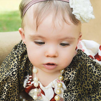 Leopard Santa Christmas Peasant Dress/Boutique Dresses/Girls Dresses/Baby Dresses/Toddler Dresses/Christmas Dresses