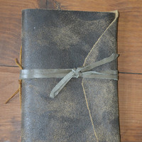 Large Handmade Leather Notebook from Thailand #11 from Purchase Effect