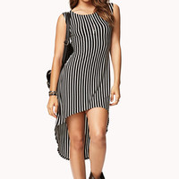 Retro Stripes High-Low Dress | FOREVER 21 - 2058272154