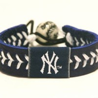 MLB New York Yankees Team Color Baseball Bracelet