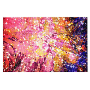 "Ebi Emporium ""Out There"" Pink Yellow Decorative Door Mat"
