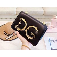 D&G hot seller of women's large monochrome shoulder bag with fashionable casual shopping bag Black