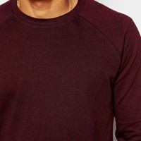 ASOS Sweatshirt In Burgundy