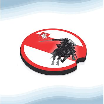 Belarus knight Car Cup Holder Coasters Rubber Black-Backed (Set of 2)