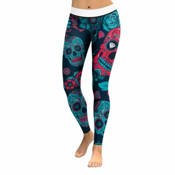 Skull Leggings & Yoga Pants High Quality Style 4
