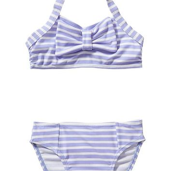 Striped Halter Bikinis for Baby