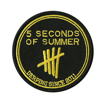 5 Seconds Of Summer Derping Iron-On Patch