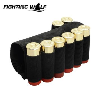 600D Nylon Elastic 8 Round Shotgun Buttstock Shell Holder Elastic Ammo Tactical Airsoft Paintball Hunting Holster 12 GA Gauge