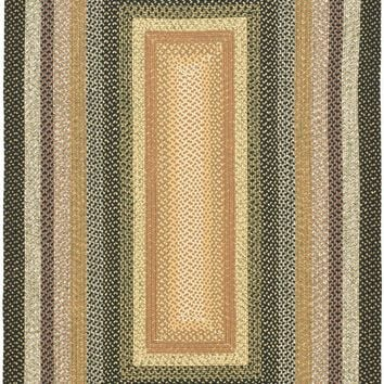 Braided Transitional Indoor Area Rug Blue / Multi