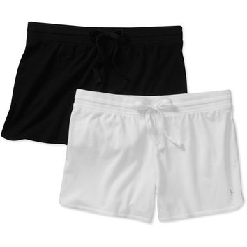 Walmart: Danskin Now Women's Essential Knit Shorts 2-Pack