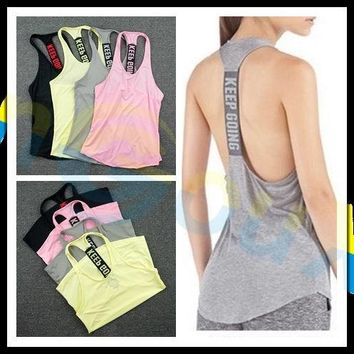 summer women Gym sports vest Sleeveless shirt Fitness running Clothes sexy Tank tops workout Yoga singlets Quick dry Tunics