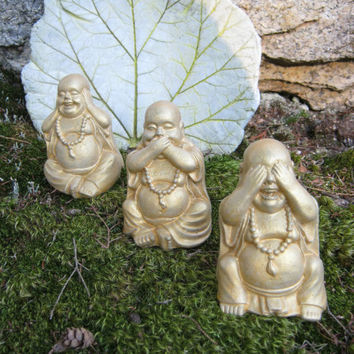 Buddha Statues Gold or Black & Gold