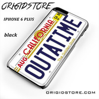 Outatime Back To The Future California License Plate For Iphone 6 Plus Case YG