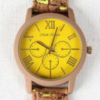 Color Slashed Cork Watch