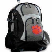 Clemson Rolling Backpack or Clemson Tigers CarryOn Suitcase NCAA Luggage BAG