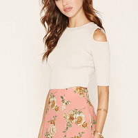 Floral Crepe Mini Skirt