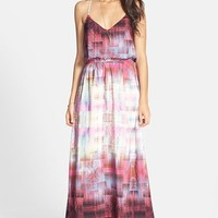 Socialite Print Maxi Dress (Juniors)