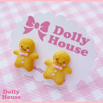 Ginger Man Earrings by Dolly House