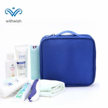 High Quality Hand-held Men Wash Bag Travel Toiletry Bag Waterproof Double Layer Shaving Bag Toiletries Organizer Bag 16*17*5cm