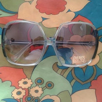 Genuine vintage 70's Green Oversized sunglasses - Nilsol
