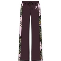 Browning Women's Camo Side Stripe Chocolate Lounge Pant
