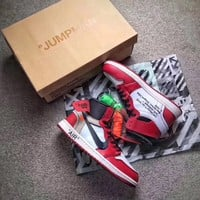 Best Online Sale The 10 OFF WHITE x Nike Air Jordan 1 Retro High OG 10X AJ1 Basketball Shoes Beaverton Sneaker AA3834-101